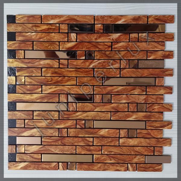 موزاییک آلومینیومی طرح چوب آجری با کد 70401028