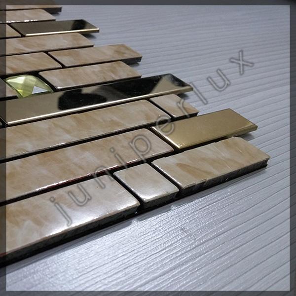 موزاییک آلومینیومی مرمری آجری با کد 70401030