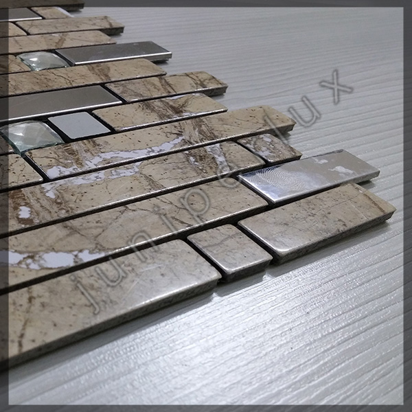 موزاییک آلومینیومی مرمری آجری با کد 70401032