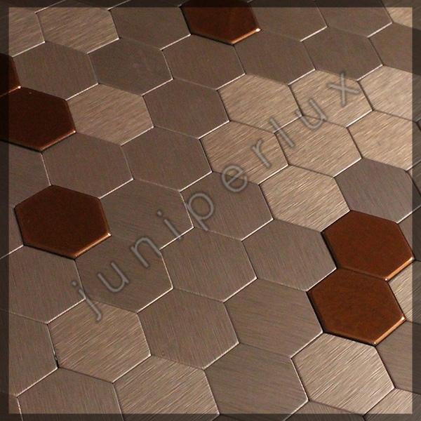 موزاییک آلومینیومی مدل شش ضلعی با کد 70401036