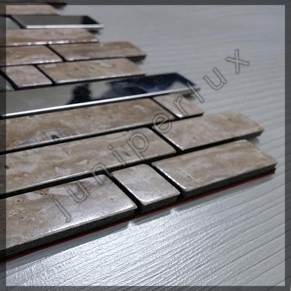 موزاییک آلومینیومی مرمری آجری با کد 70401037
