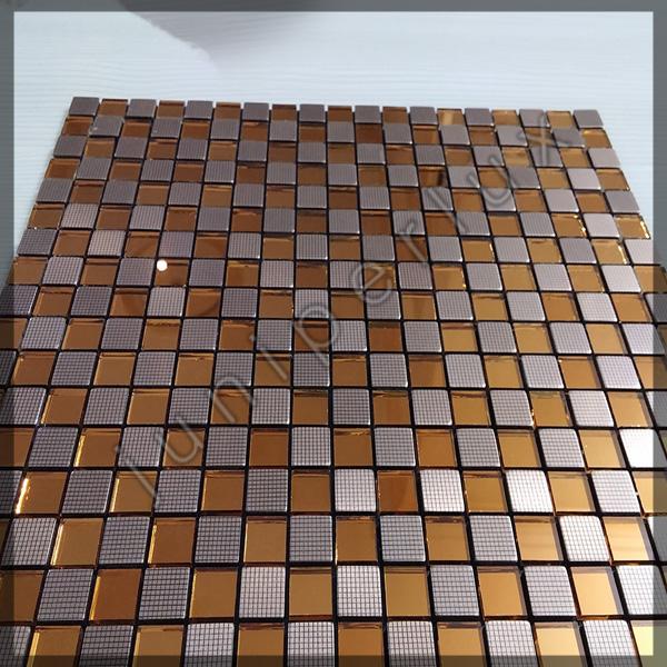 موزاییک آلومینیومی کریستالی نارنجی شطرنجی با کد 70401039