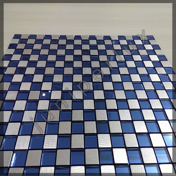 موزاییک آلومینیومی کریستالی سرمه ای شطرنجی با کد 70401040