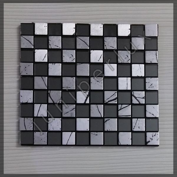 موزاییک آلومینیومی کریستالی مشکی شطرنجی با کد 70401044