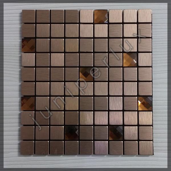 موزاییک آلومینیومی متوسط کریستالی مسی رنگ با کد 70401047